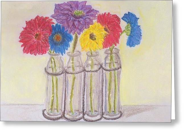 Gerber Daisy Pastels Greeting Cards - Gerbers Greeting Card by Cindy Lawson-Kester