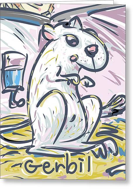 Gerbil Greeting Cards - Gerbil Greeting Card by Brett LaGue