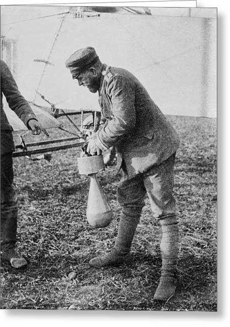German Aeroplane Bomb, World War I Greeting Card by Science Photo Library