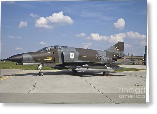 Hradec Greeting Cards - German Air Force F-4f Phantom Ii Greeting Card by Timm Ziegenthaler