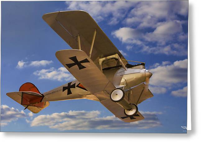 Wwi Greeting Cards - German Albatros Greeting Card by Tommy Anderson