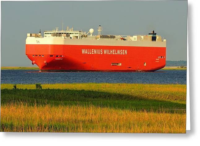 Car Carrier Greeting Cards - German Car Carrier  Greeting Card by Laura Ragland
