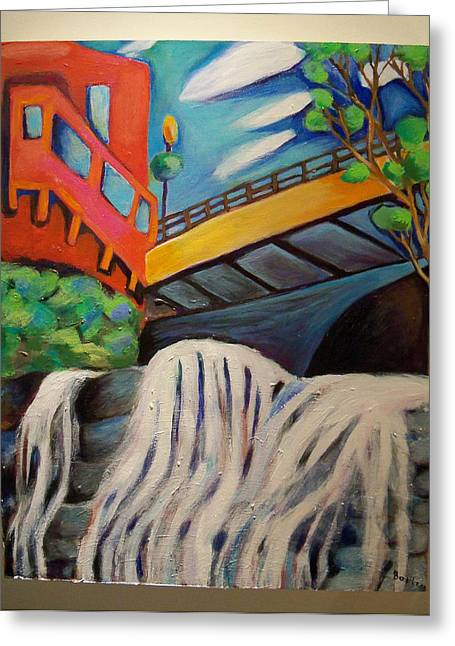 Small Towns Pastels Greeting Cards - German Falls Greeting Card by Melissa Bollen