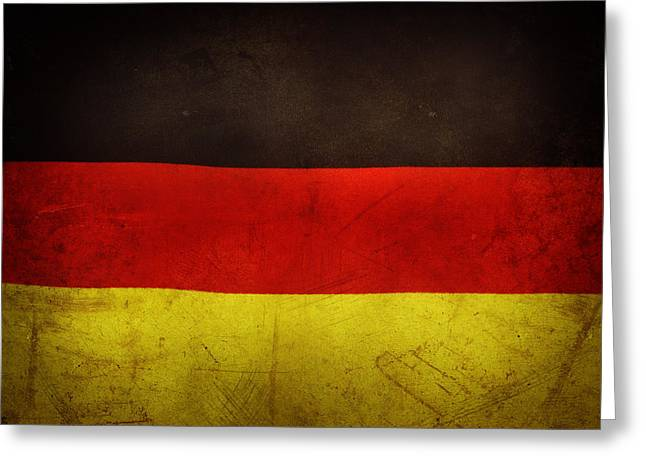 National Symbol Greeting Cards - German flag Greeting Card by Les Cunliffe