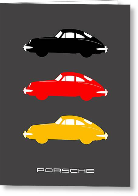 Classic Porsche 356 Greeting Cards - German Icon - Porsche 356 Greeting Card by Mark Rogan