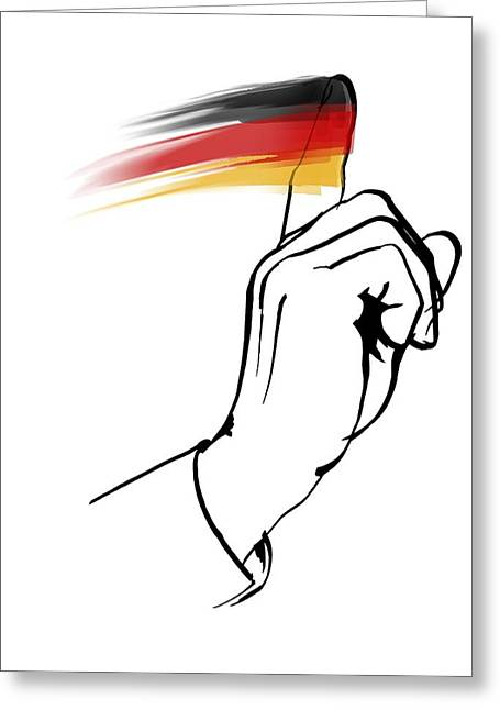 European Artwork Greeting Cards - German morality, conceptual artwork Greeting Card by Science Photo Library