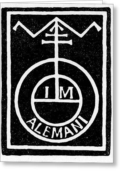 German Printer's Mark Greeting Card by Cci Archives