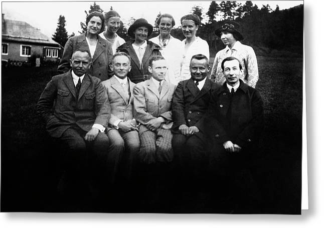 German Scientists And Their Wives Greeting Card by American Philosophical Society