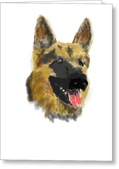 Owner Digital Greeting Cards - German shepard Greeting Card by Bob Donner