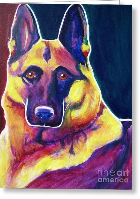 German Shepherd - Burner Greeting Card by Alicia VanNoy Call