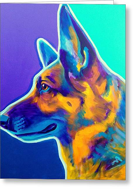Bred Greeting Cards - German Shepherd - Schatze Greeting Card by Alicia VanNoy Call