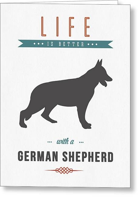 German Shepherd Greeting Cards - German Shepherd 01 Greeting Card by Aged Pixel