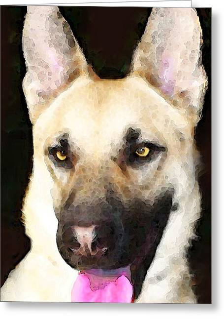 German Shepherd Greeting Cards - German Shepherd - Lover Greeting Card by Sharon Cummings
