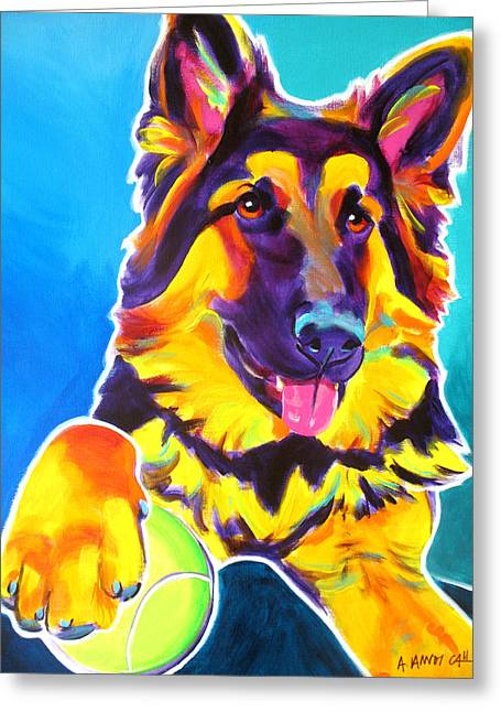 Alicia Vannoy Call Greeting Cards - German Shepherd - Mace Greeting Card by Alicia VanNoy Call
