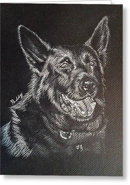 Custom Commissioned Pet Portrait From Photos Greeting Cards - German shepherd mix Greeting Card by Sun Sohovich