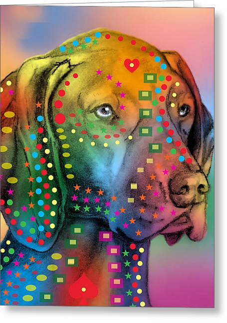Funny Dog Digital Greeting Cards - German Shorthair Pointer Greeting Card by Mark Ashkenazi
