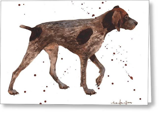 Hunting Greeting Cards - German Shorthaired Pointer Greeting Card by Alison Fennell