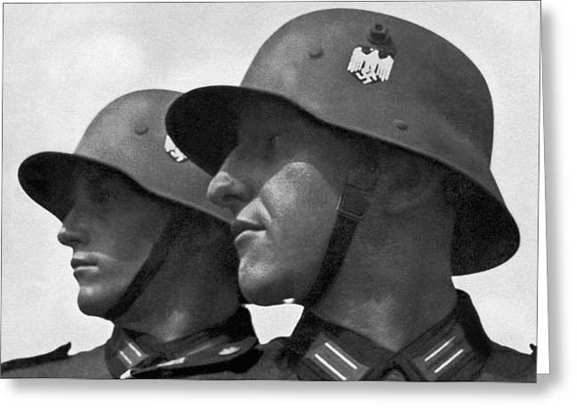 German Soldiers Portrait Greeting Card by Underwood Archives