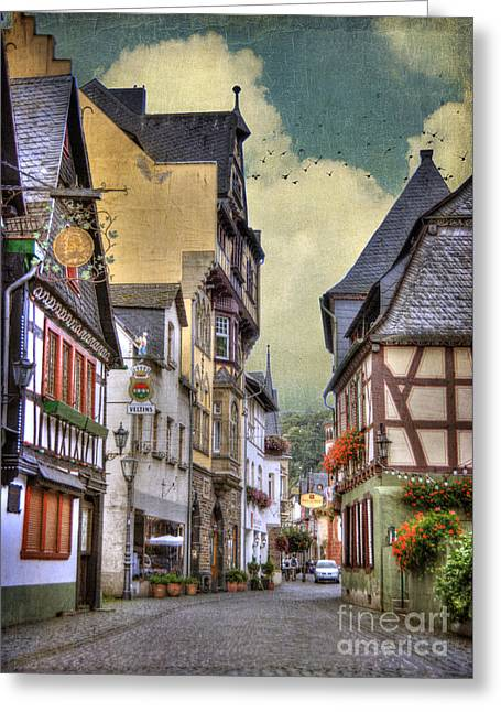 Manipulated Greeting Cards - German Village Greeting Card by Juli Scalzi