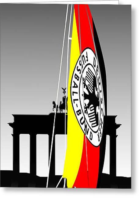 Brandenburg Digital Art Greeting Cards - Weltmeister-Germany Greeting Card by Peter Stevenson