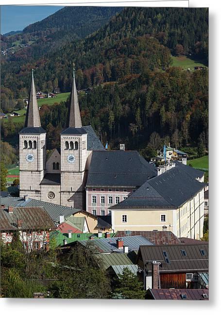 Germany, Bavaria, Berchtesgaden Greeting Card by Walter Bibikow