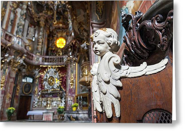Germany, Bavaria, Munich, Assamkirche Greeting Card by Walter Bibikow