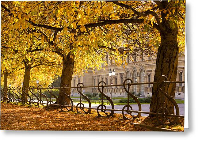 Muenchen Greeting Cards - Germany, Bavaria, Munich, Garden © Greeting Card by Tips Images
