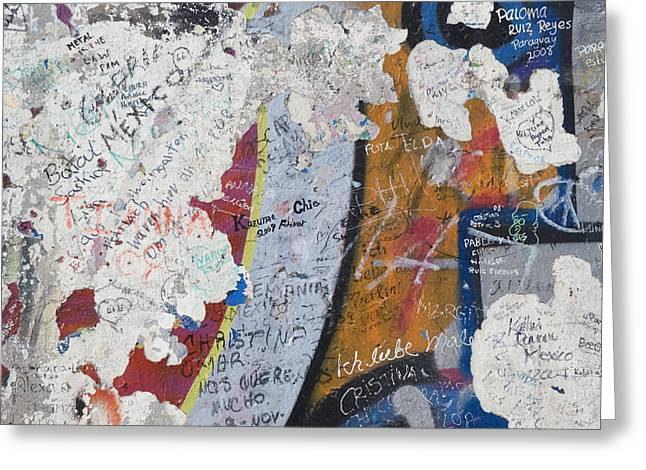 Berlin Germany Greeting Cards - Germany, Berlin Wall Berlin Greeting Card by Teresa Arévalo de Zavala