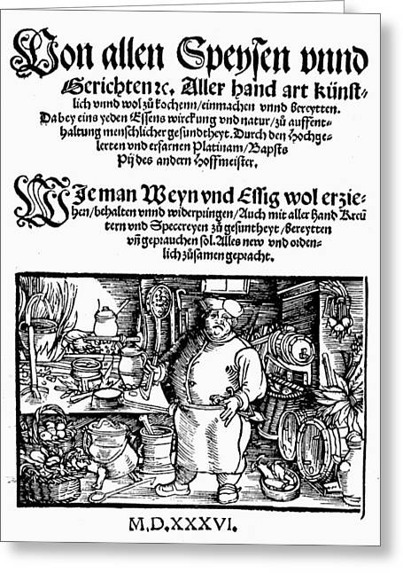 Germany Cookbook, 1536 Greeting Card by Granger