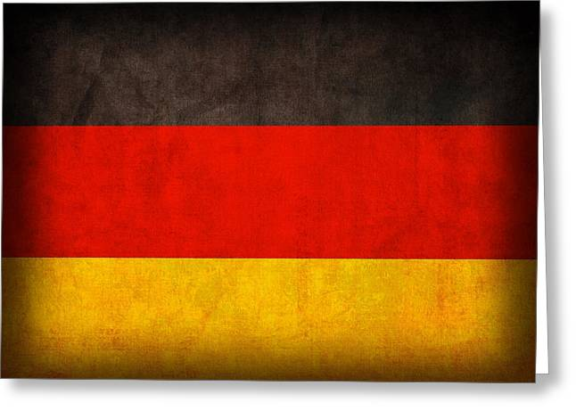 Germany Flag Vintage Distressed Finish Greeting Card by Design Turnpike