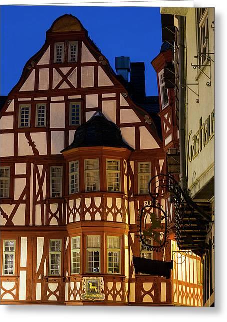 Germany, Hesse, Limburg An Der Lahn Greeting Card by Walter Bibikow