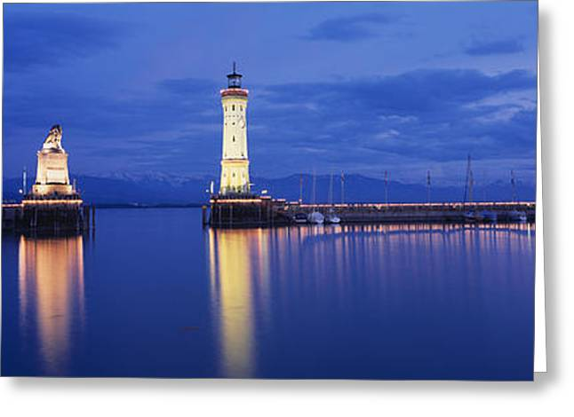 Central Europe Greeting Cards - Germany, Lindau, Reflection Greeting Card by Panoramic Images