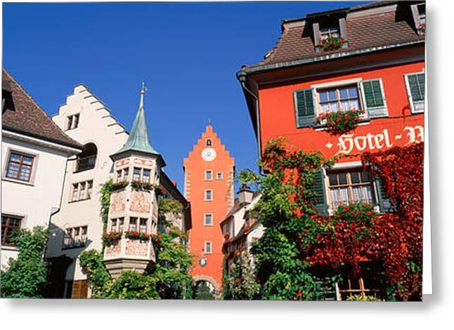 Lake Constance Greeting Cards - Germany, Meersburg, Lake Constance, Low Greeting Card by Panoramic Images