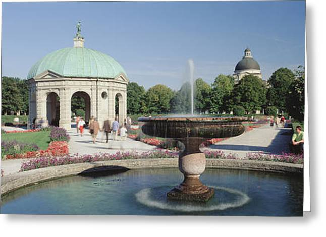 Munich Greeting Cards - Germany, Munich, Hofgarten, Tourist Greeting Card by Panoramic Images