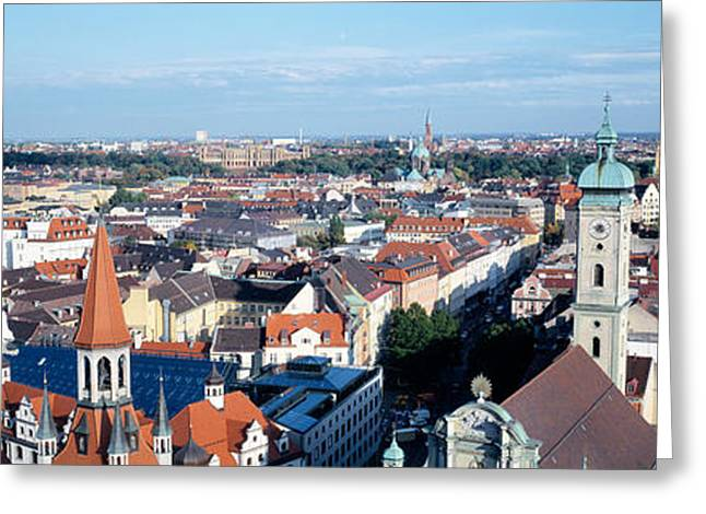 Munich Greeting Cards - Germany, Munich Greeting Card by Panoramic Images