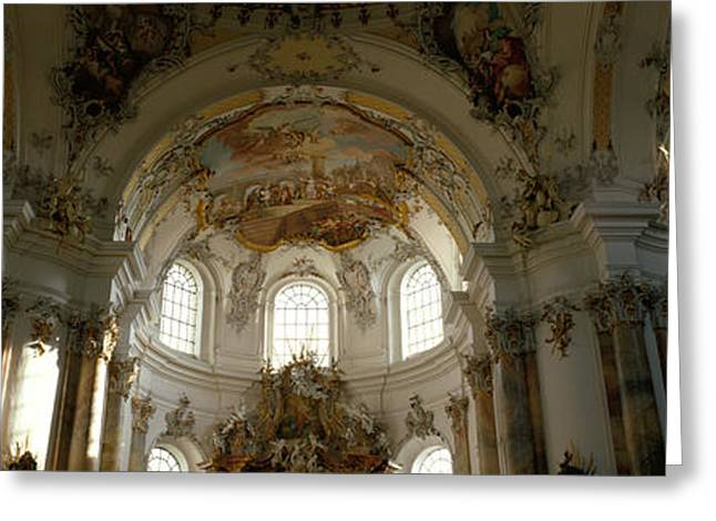 Historic Architecture Greeting Cards - Germany, Ottobeuren Greeting Card by Panoramic Images