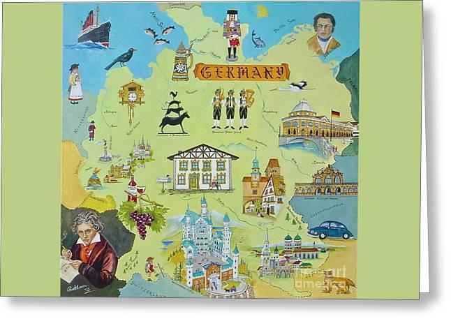 Germany Greeting Card by Virginia Ann Hemingson