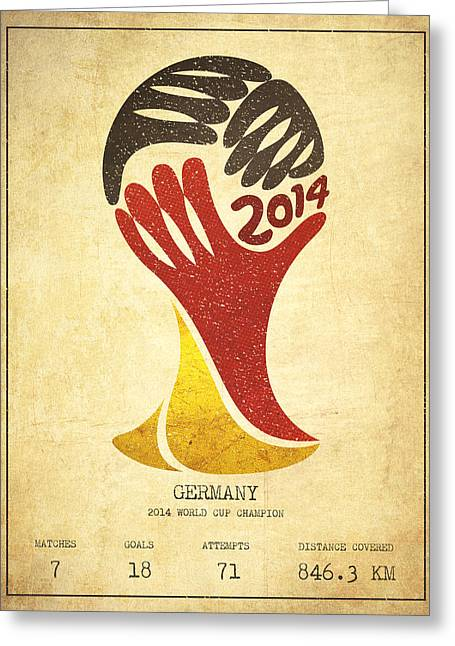 Technical Art Greeting Cards - Germany World Cup Champion Greeting Card by Aged Pixel