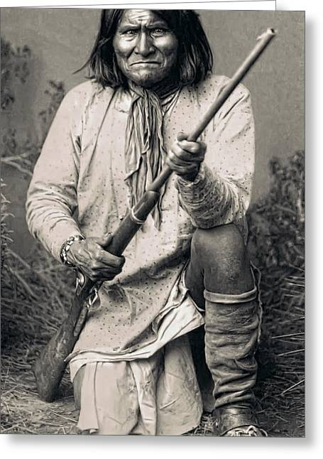Man Of War Greeting Cards - Geronimo - 1886 Greeting Card by Daniel Hagerman