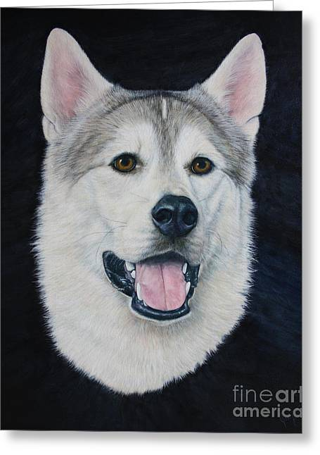 Recently Sold -  - Husky Greeting Cards - Geronimo Greeting Card by Joey Nash