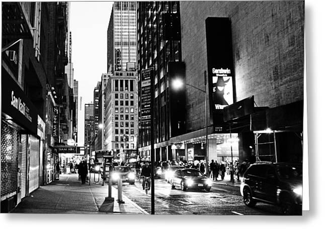 Gershwin Greeting Cards - Gershwin Theatre NYC Greeting Card by Vidal Ortiz