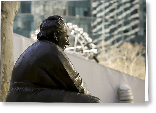 Bryant Park Greeting Cards - Gertrude Stein NYC Greeting Card by Joanna Madloch