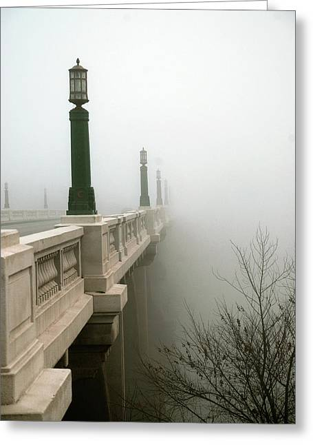 Light Pole Greeting Cards - Gervais Street Bridge Greeting Card by Skip Willits