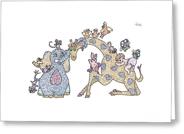 Messianic Art Greeting Cards - Gesher Zsar Meod Greeting Card by Ellen Braun