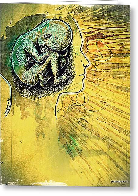 Born Again Greeting Cards - Gestation Of Ideas Greeting Card by Paulo Zerbato