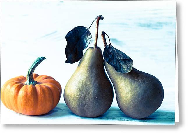 Pear Art Greeting Cards - Get a room Greeting Card by Constance Fein Harding