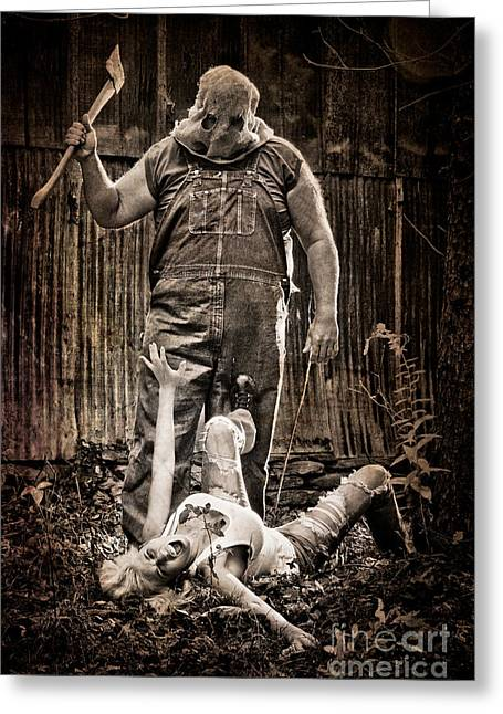 Horror Poster Greeting Cards - Get Away Greeting Card by Jt PhotoDesign
