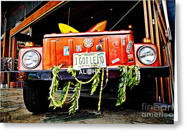 Get Lei'd Greeting Card by Scott Pellegrin