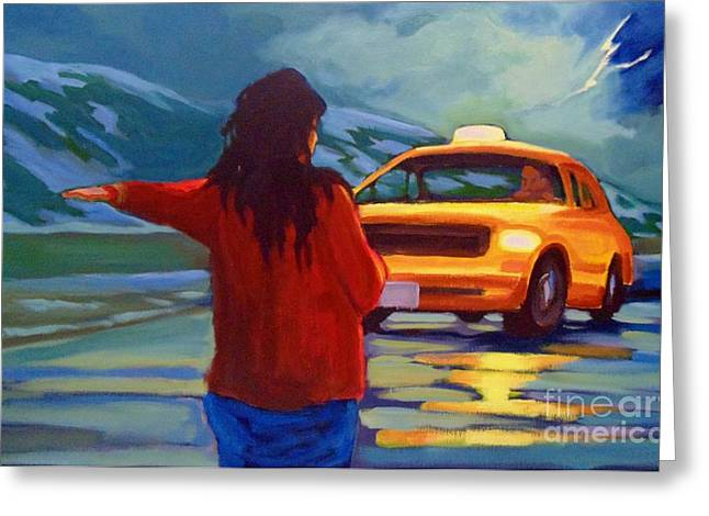 Tension Paintings Greeting Cards - Get Me Home Greeting Card by John Malone