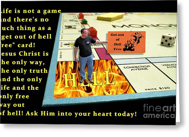 Monopoly Greeting Cards - Get out of Hell free Greeting Card by Chad and Stacey Hall